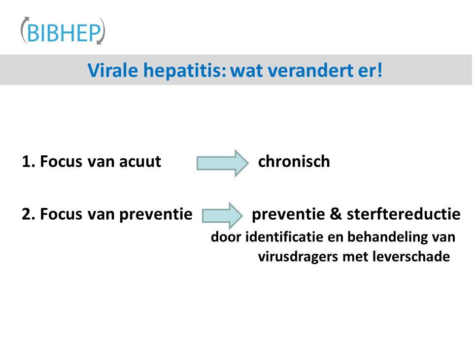 Virale hepatitis: wat verandert er!