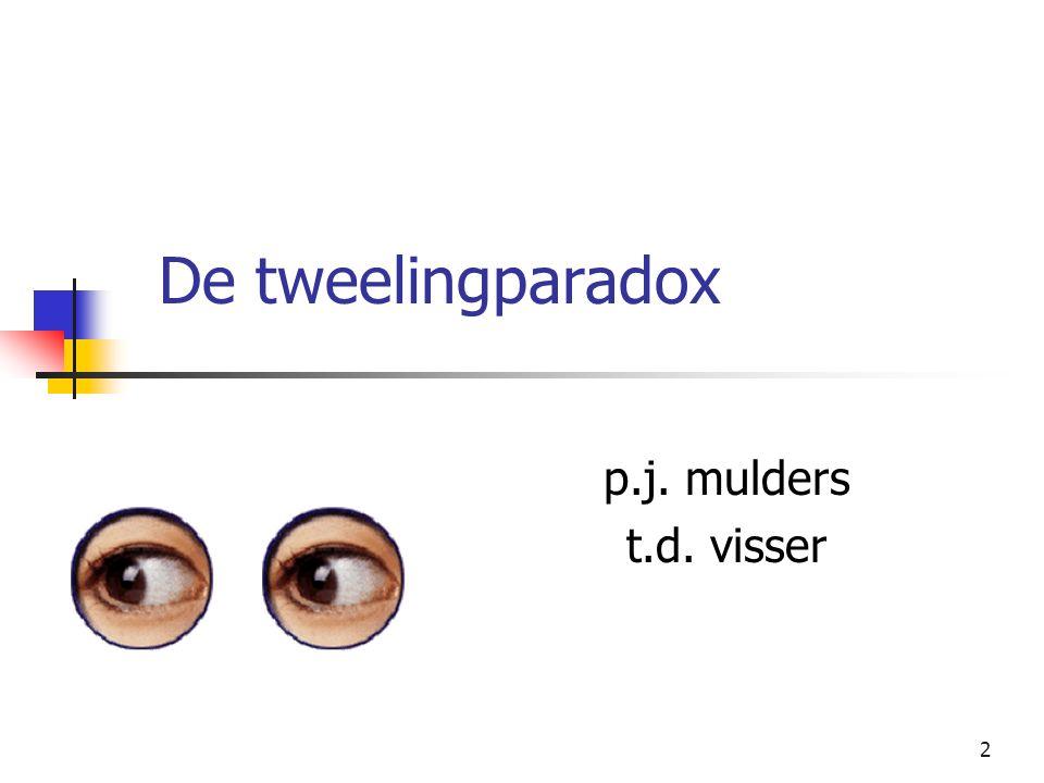 MASTERLAB LECTURE p.j. mulders t.d. visser