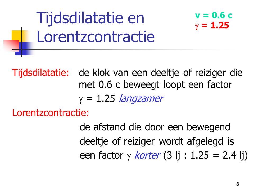 Tijdsdilatatie en Lorentzcontractie