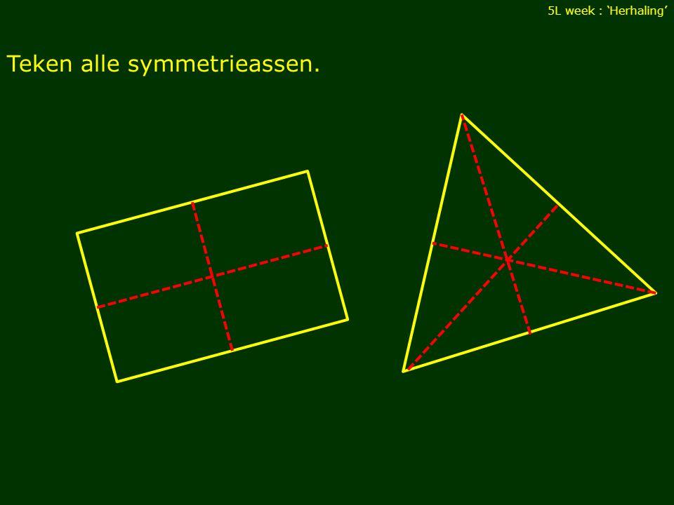Teken alle symmetrieassen.