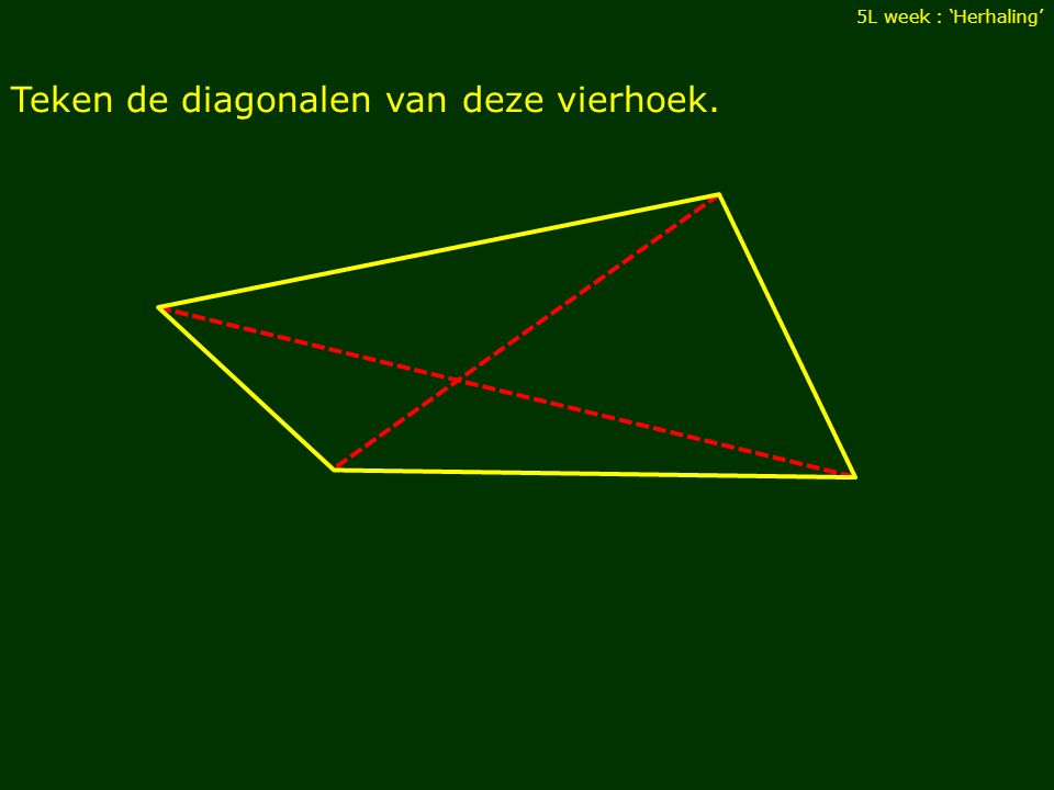 Teken de diagonalen van deze vierhoek.