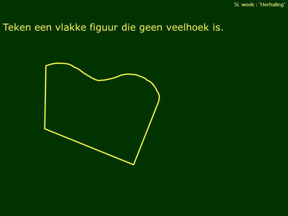Teken een vlakke figuur die geen veelhoek is.