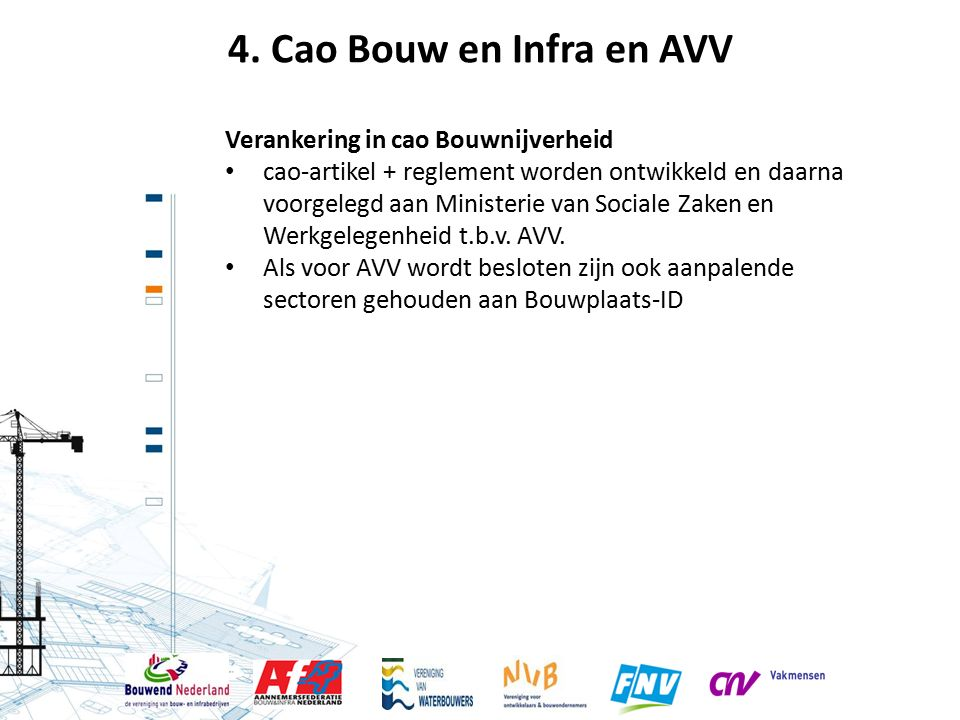 4. Cao Bouw en Infra en AVV Verankering in cao Bouwnijverheid