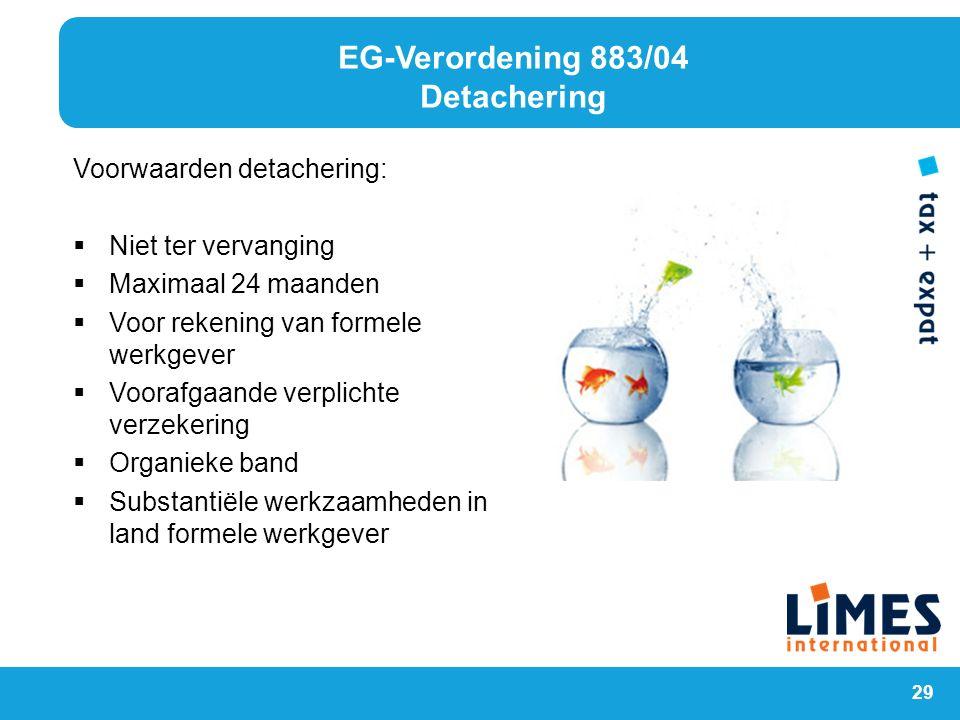 EG-Verordening 883/04 Detachering