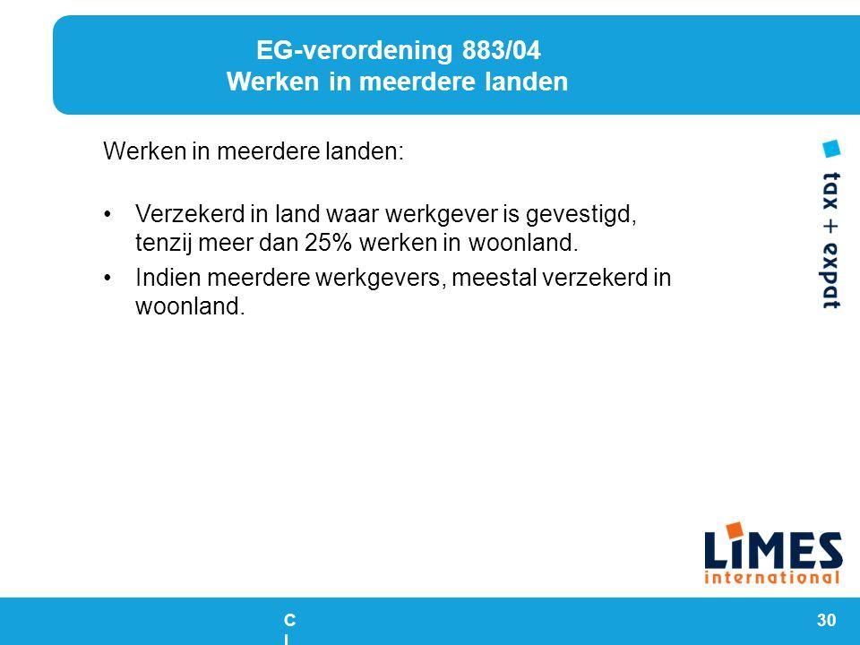EG-verordening 883/04 Werken in meerdere landen
