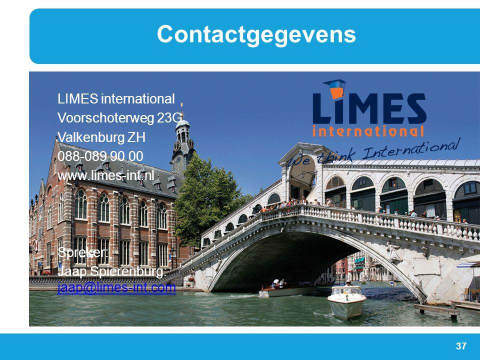Contactgegevens LIMES international Voorschoterweg 23G Valkenburg ZH