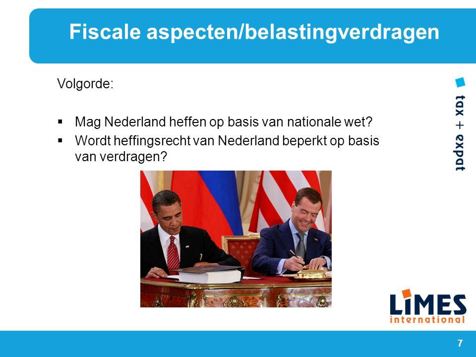 Fiscale aspecten/belastingverdragen