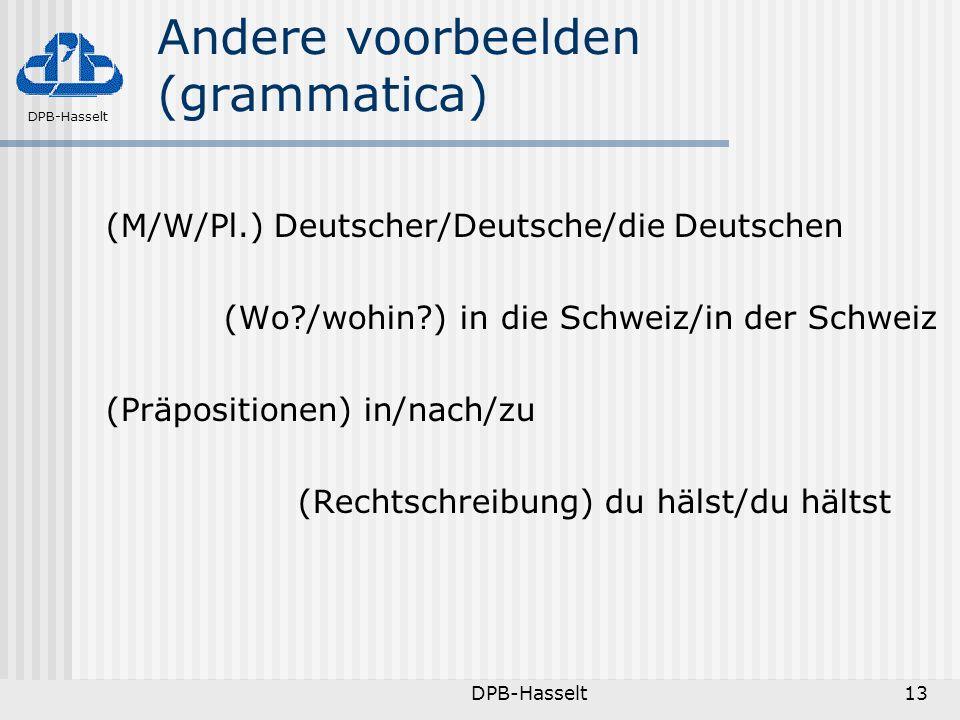 Andere voorbeelden (grammatica)