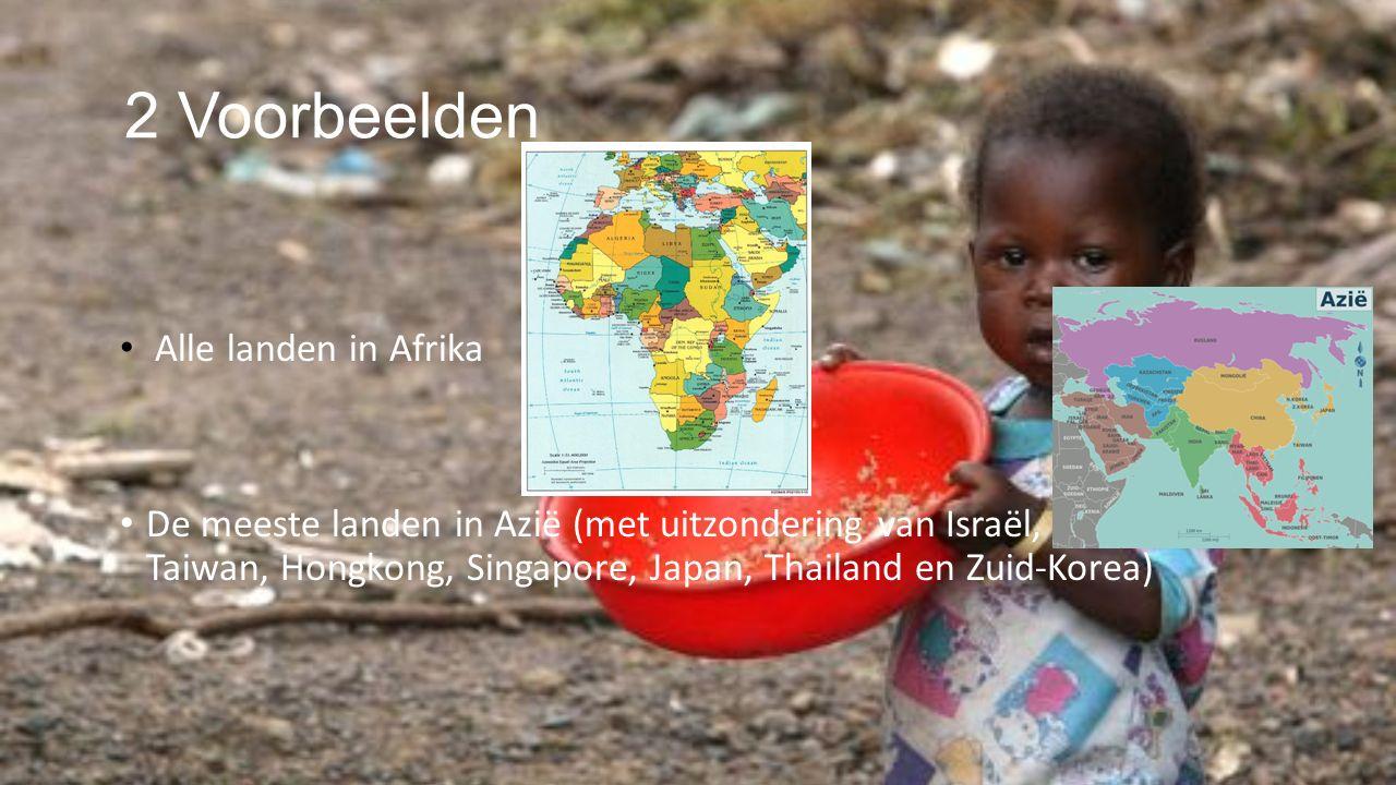 2 Voorbeelden Alle landen in Afrika