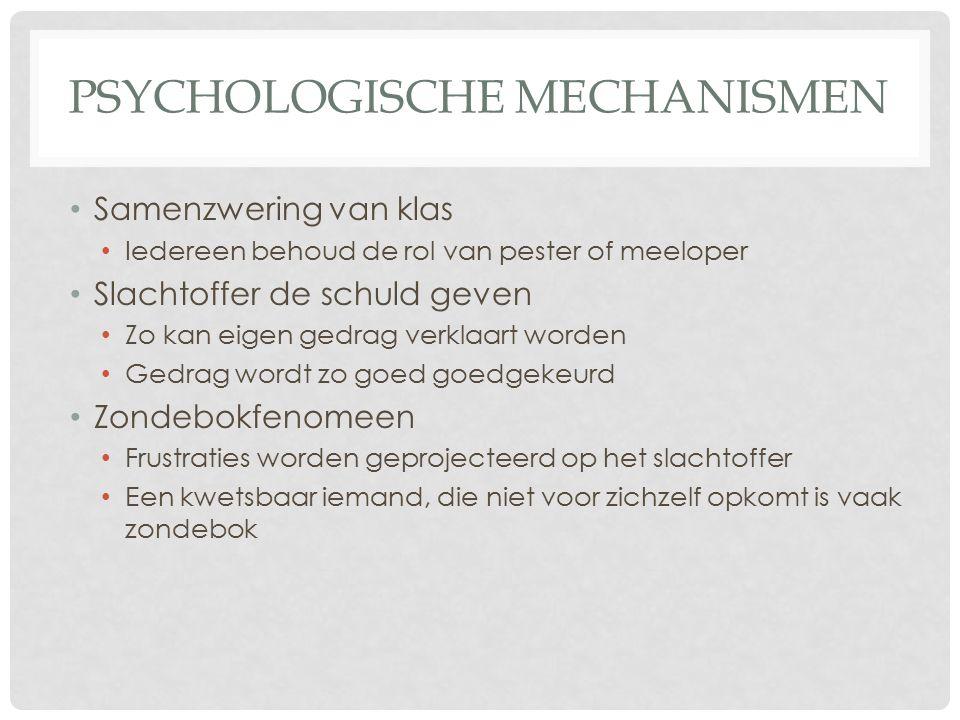 Psychologische mechanismen