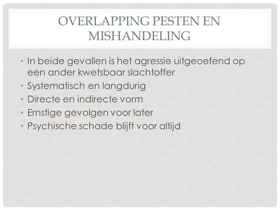 Overlapping pesten en mishandeling