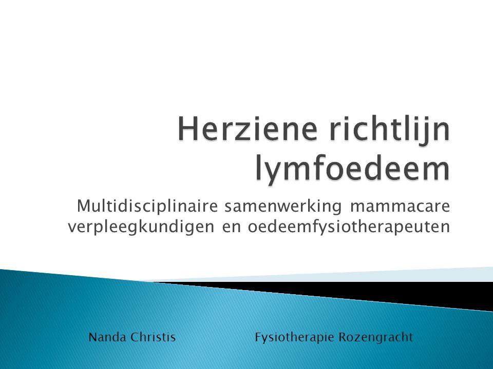 Herziene richtlijn lymfoedeem