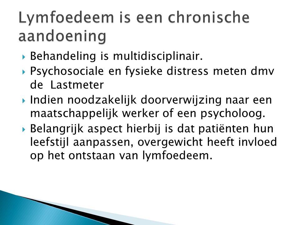 Lymfoedeem is een chronische aandoening