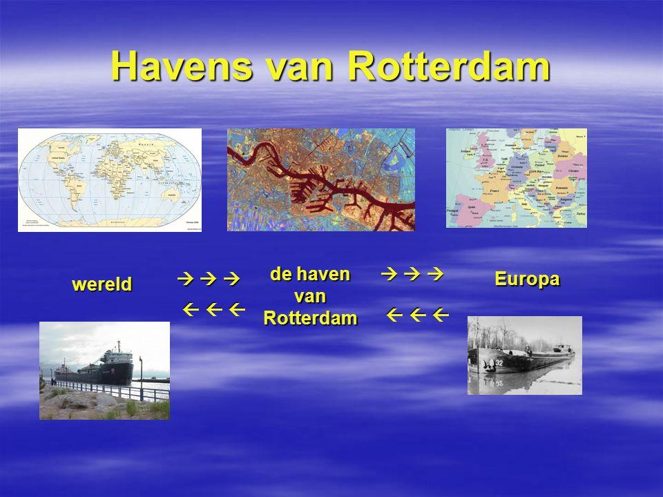 Havens van Rotterdam de haven van Rotterdam       Europa wereld