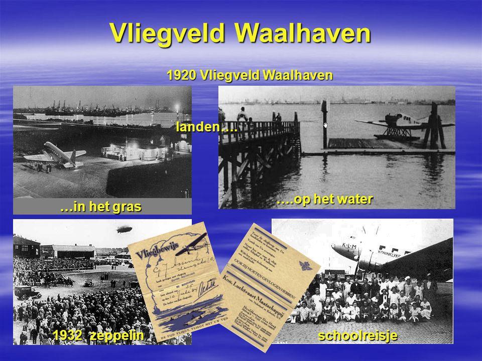 Vliegveld Waalhaven 1920 Vliegveld Waalhaven landen…. ….op het water