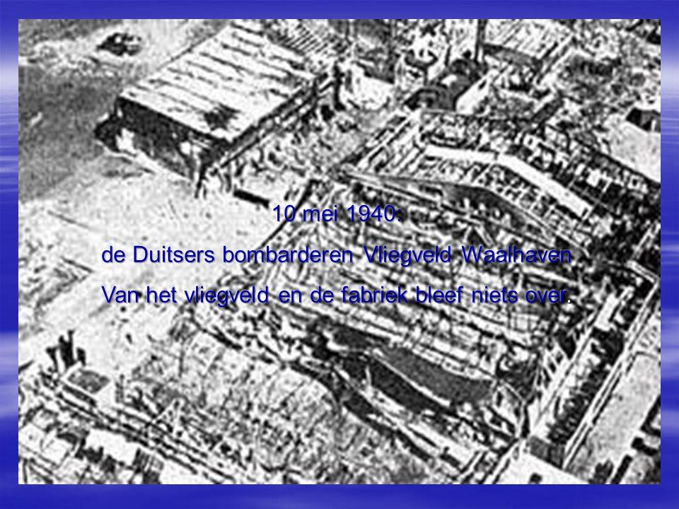 de Duitsers bombarderen Vliegveld Waalhaven