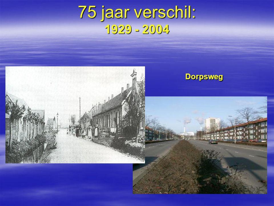 75 jaar verschil: 1929 - 2004 Dorpsweg