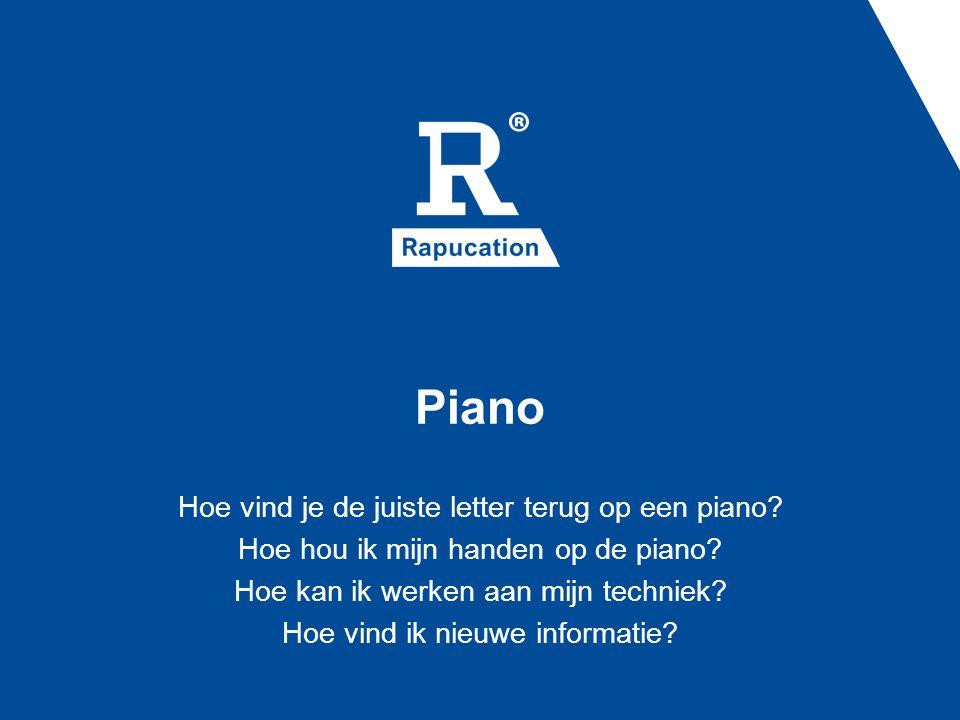 Piano Hoe vind je de juiste letter terug op een piano