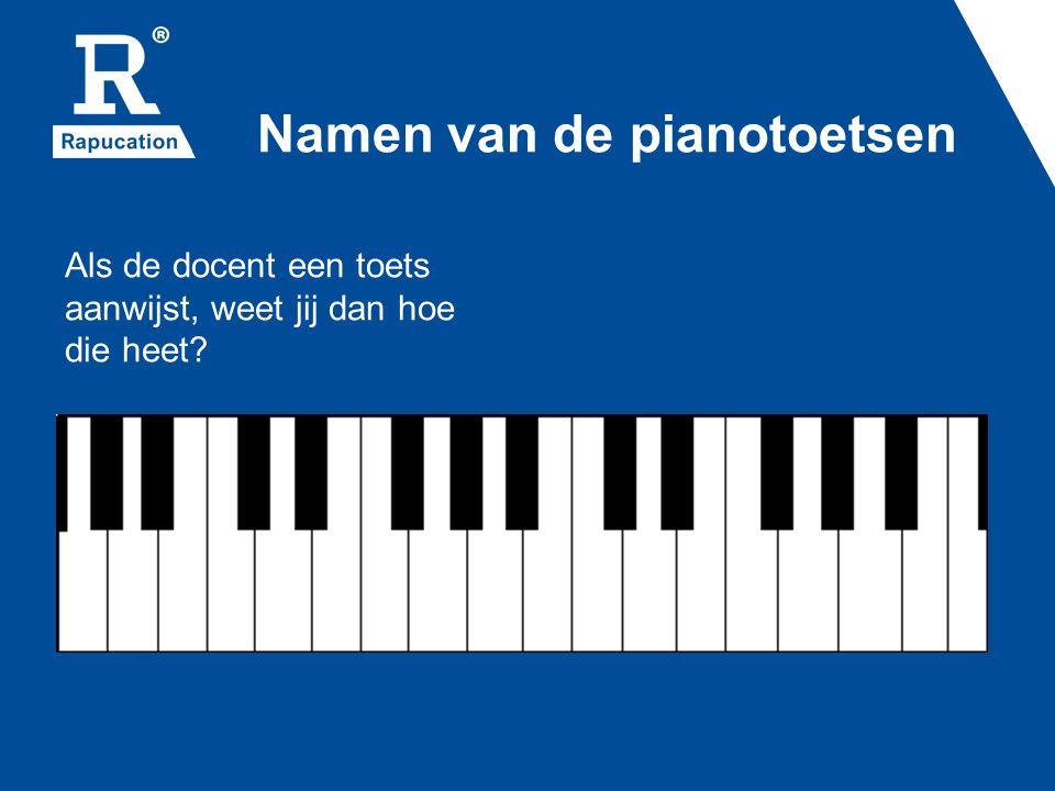 Namen van de pianotoetsen