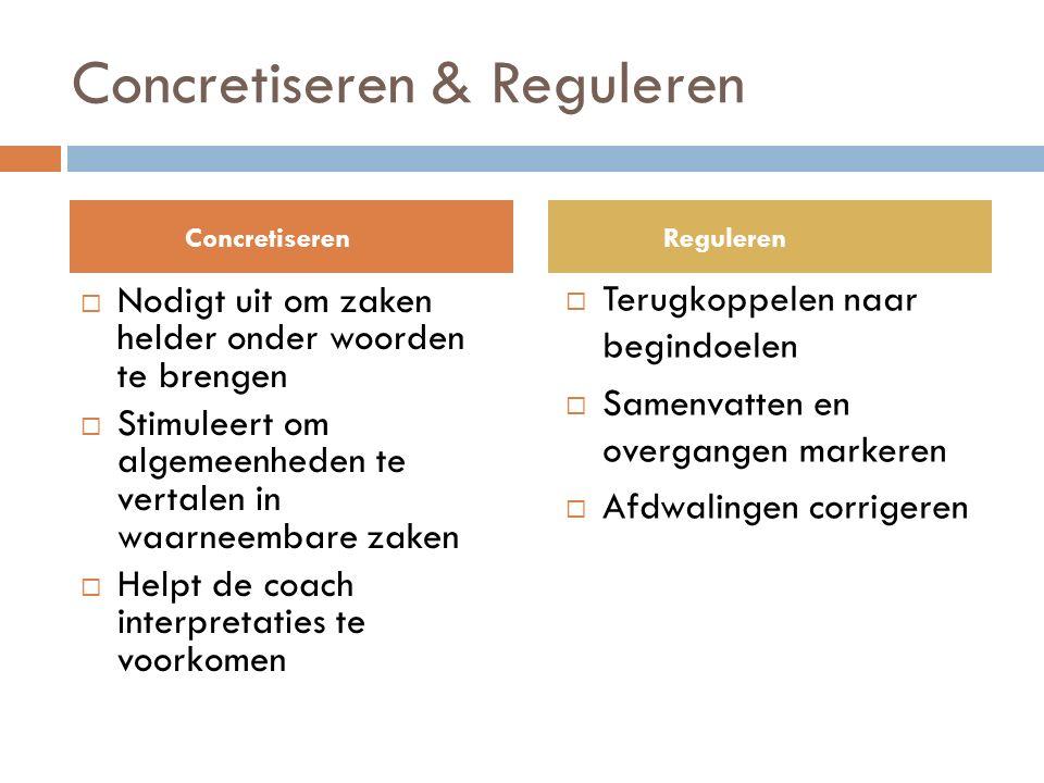 Concretiseren & Reguleren