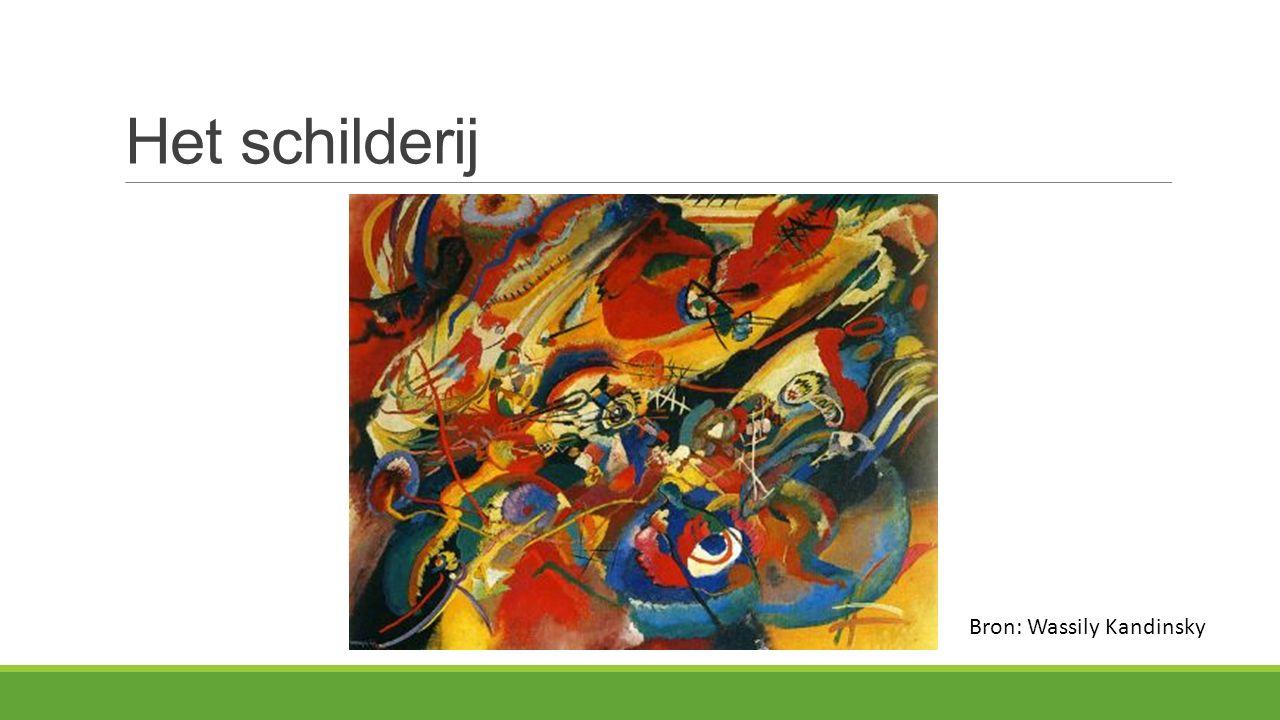 Het schilderij Bron: Wassily Kandinsky