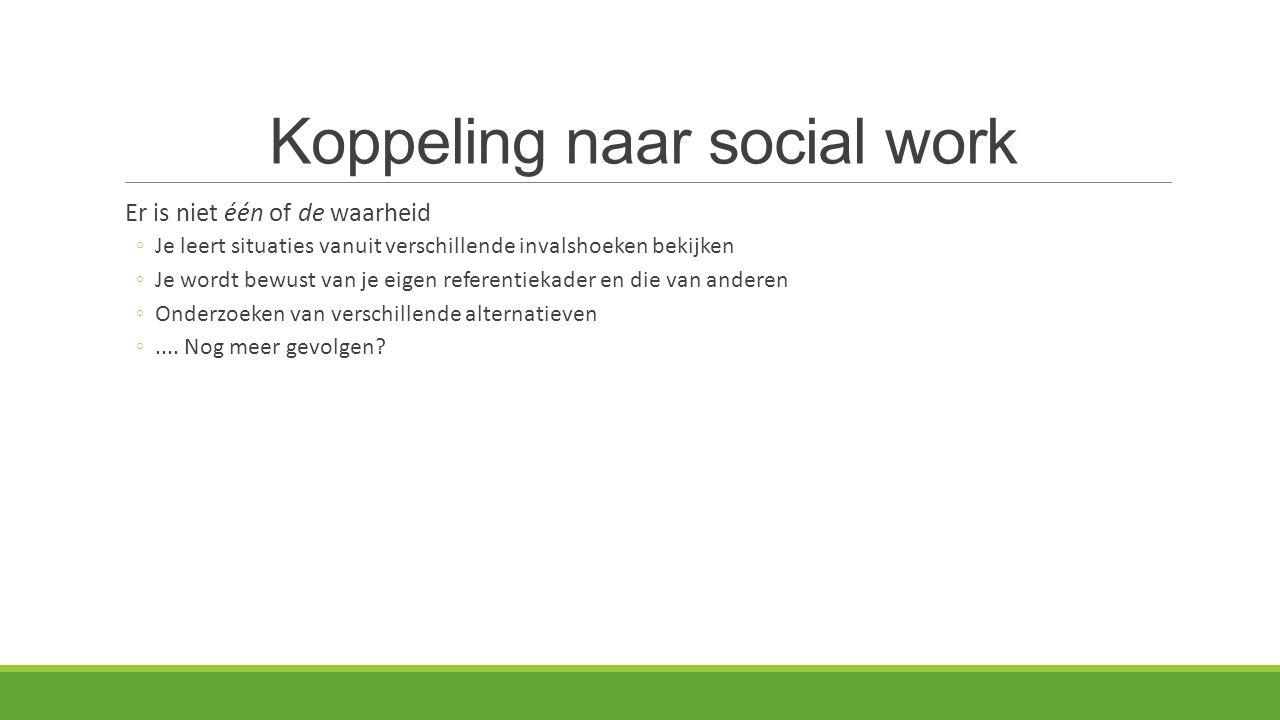 Koppeling naar social work