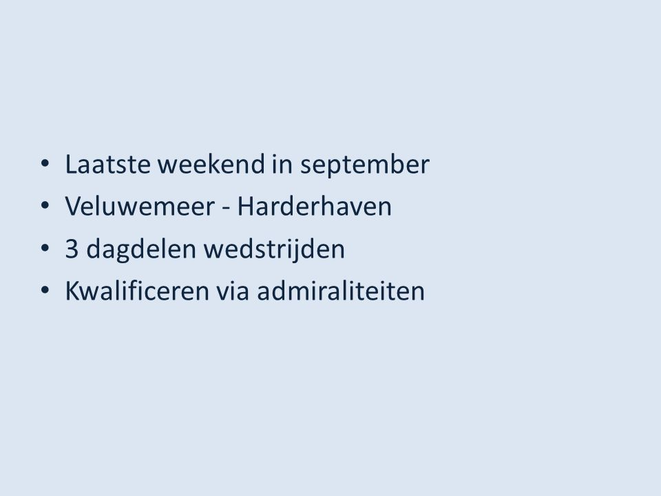 Laatste weekend in september