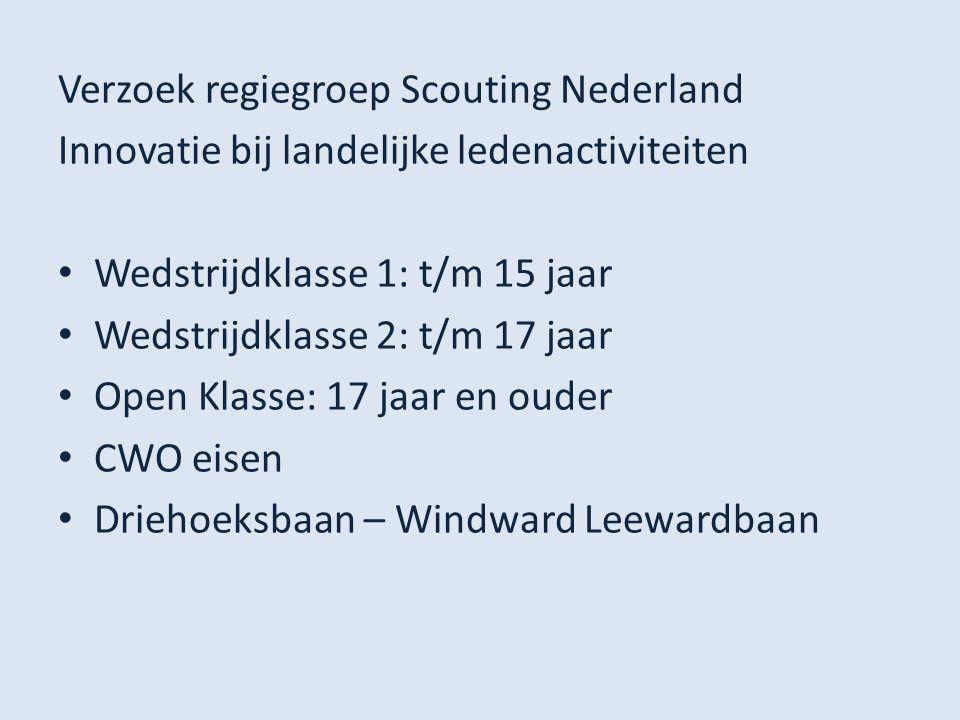 Verzoek regiegroep Scouting Nederland