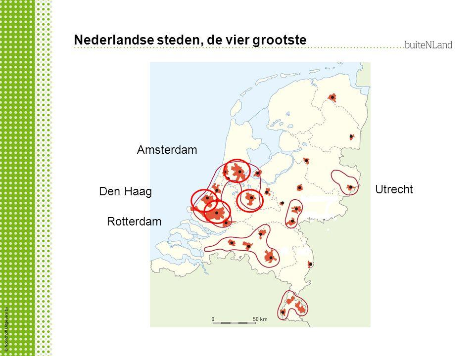 Nederlandse steden, de vier grootste
