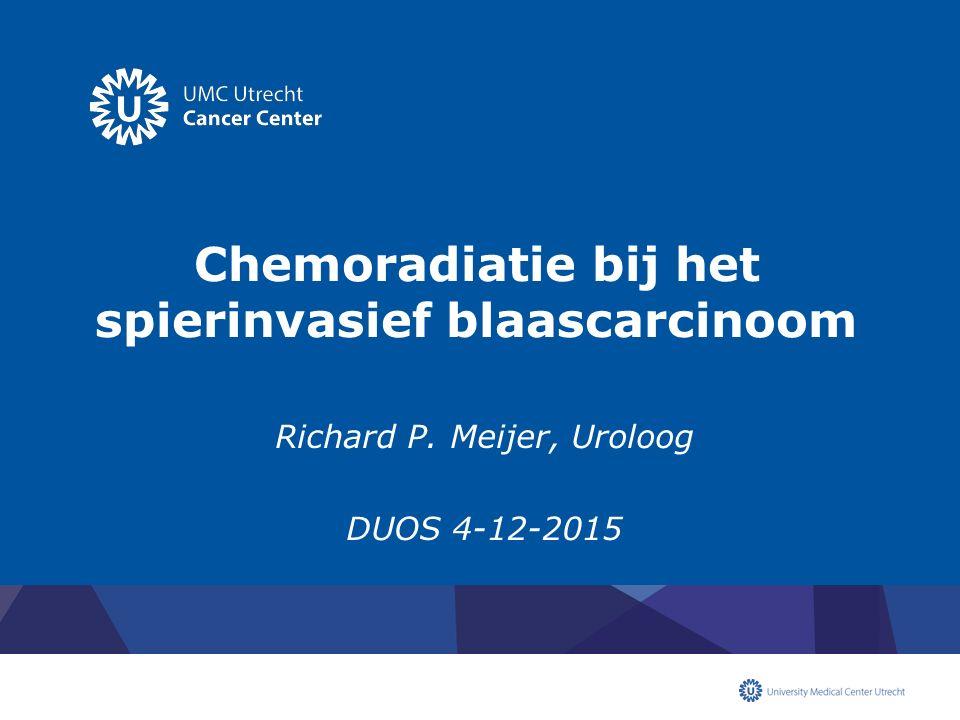 Chemoradiatie bij het spierinvasief blaascarcinoom
