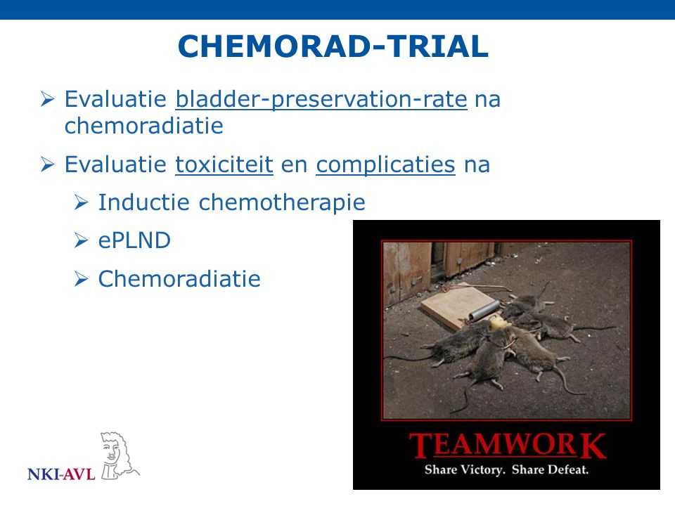 CHEMORAD-TRIAL Evaluatie bladder-preservation-rate na chemoradiatie