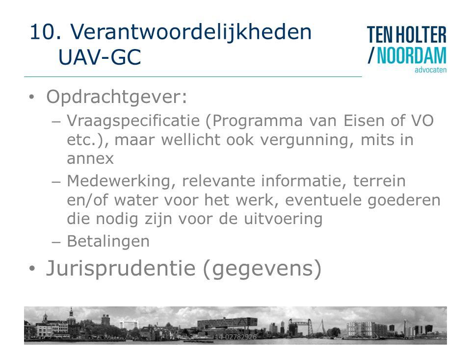 10. Verantwoordelijkheden UAV-GC