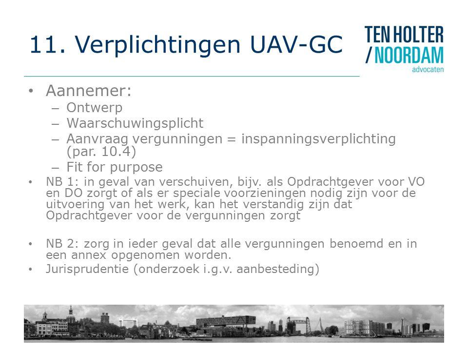 11. Verplichtingen UAV-GC