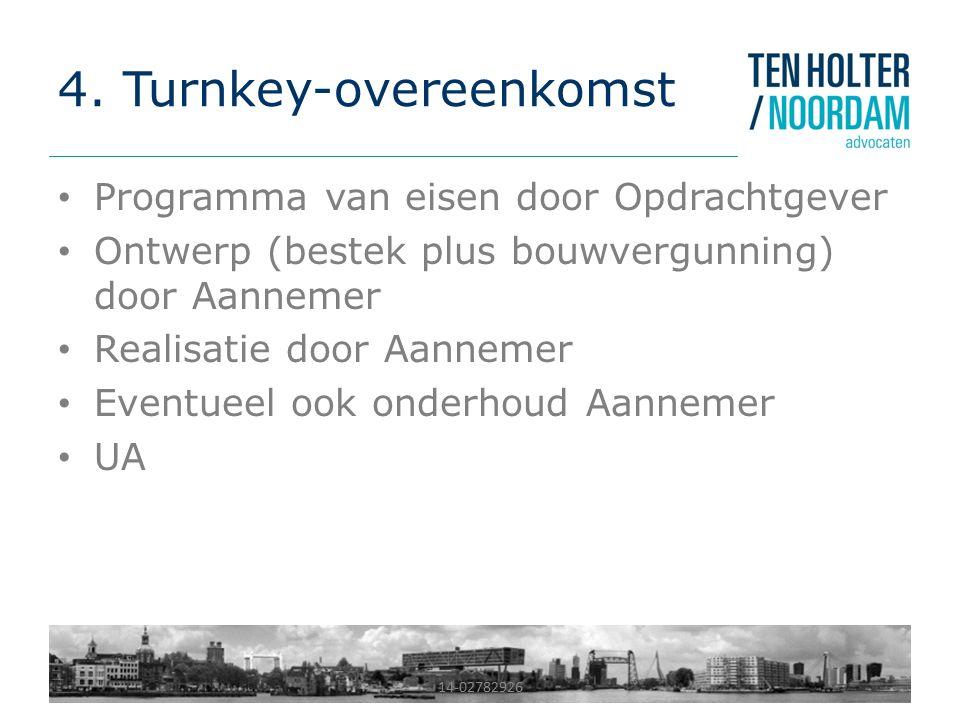 4. Turnkey-overeenkomst