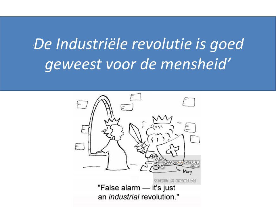'De Industriële revolutie is goed geweest voor de mensheid'