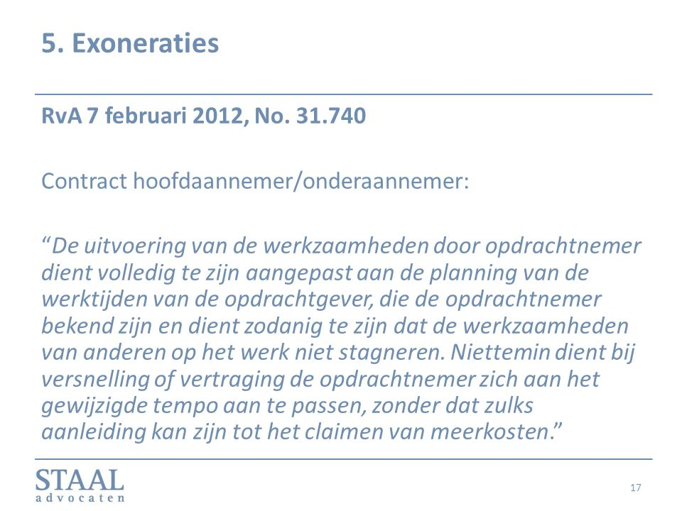 5. Exoneraties RvA 7 februari 2012, No. 31.740