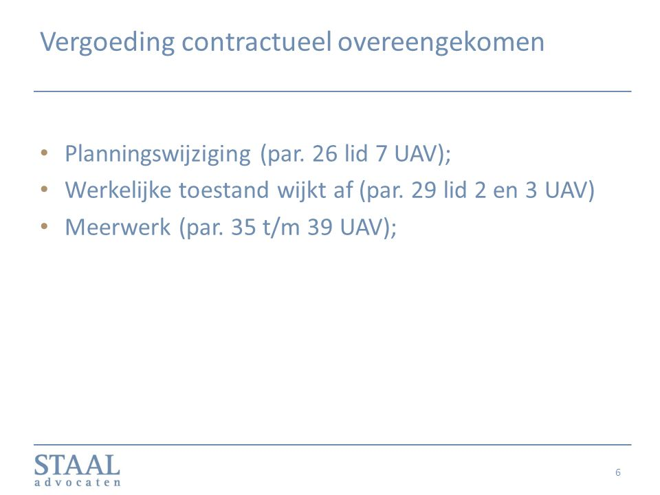 Vergoeding contractueel overeengekomen