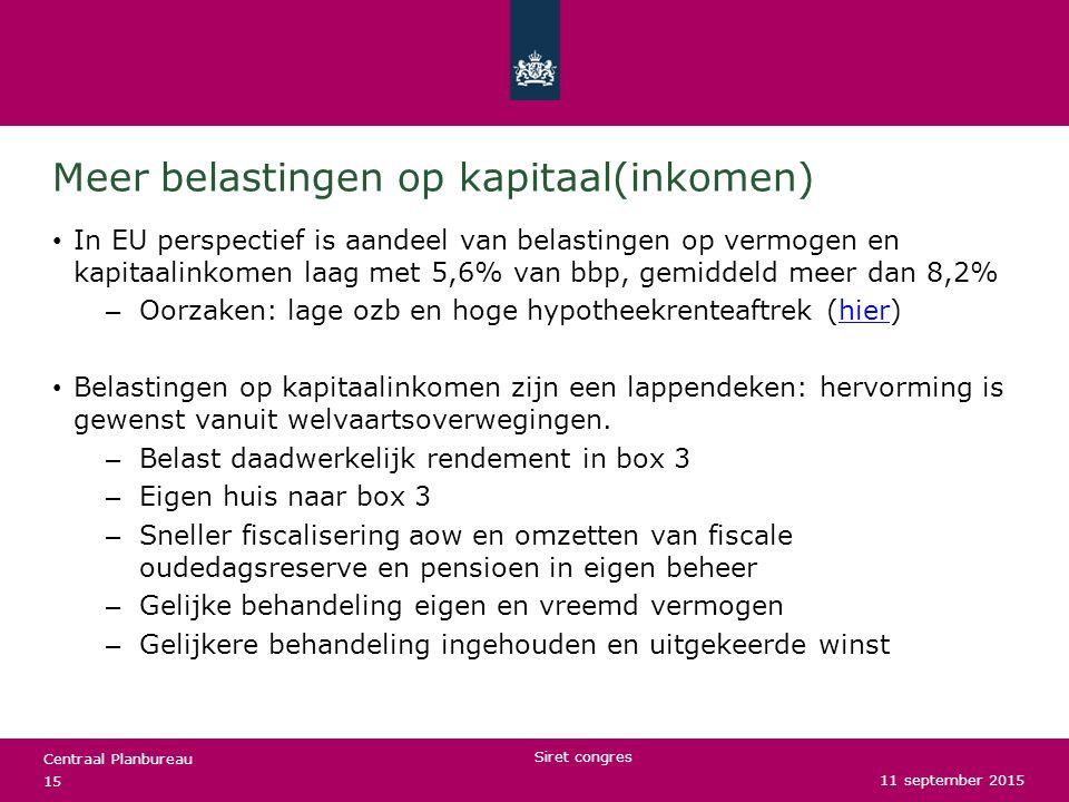 Meer belastingen op kapitaal(inkomen)