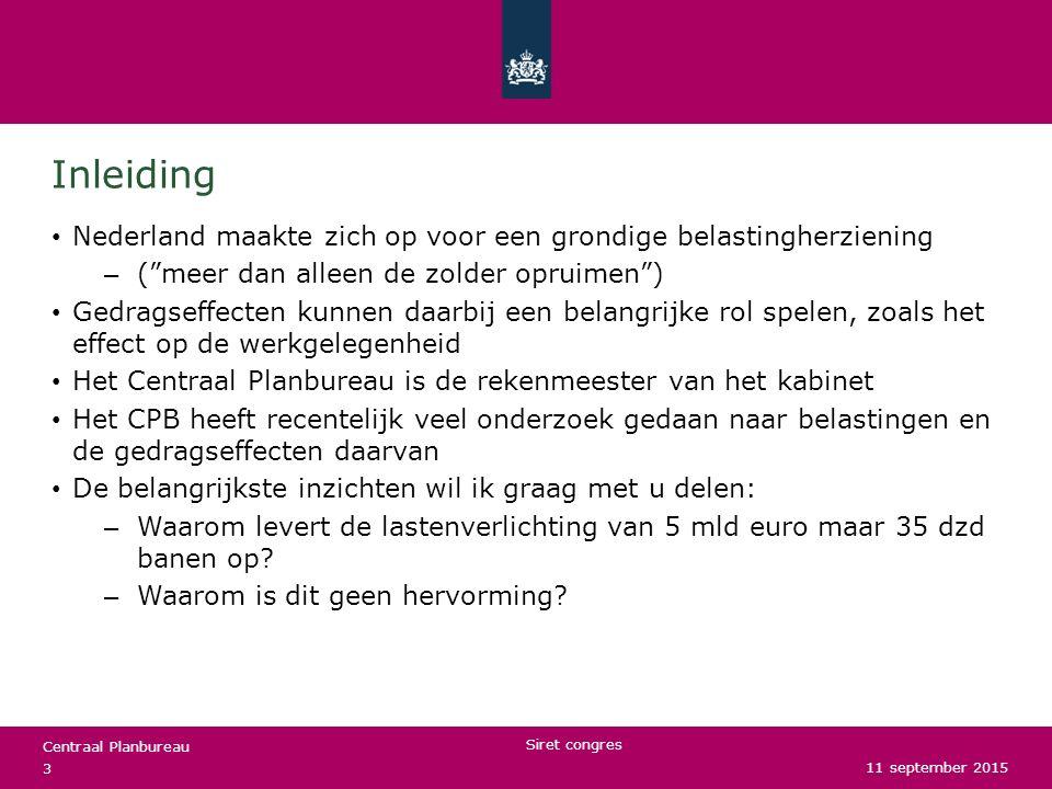 Inleiding Nederland maakte zich op voor een grondige belastingherziening. ( meer dan alleen de zolder opruimen )