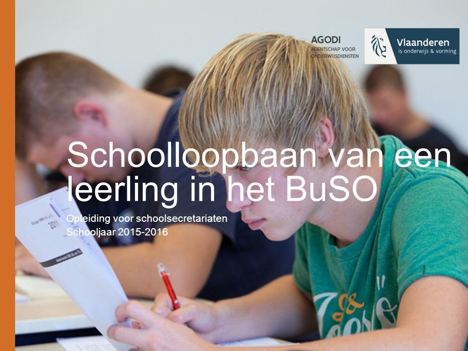 Schoolloopbaan van een leerling in het BuSO