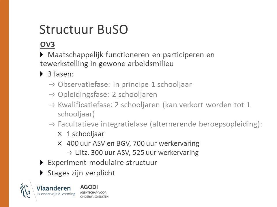 Structuur BuSO OV3. Maatschappelijk functioneren en participeren en tewerkstelling in gewone arbeidsmilieu.