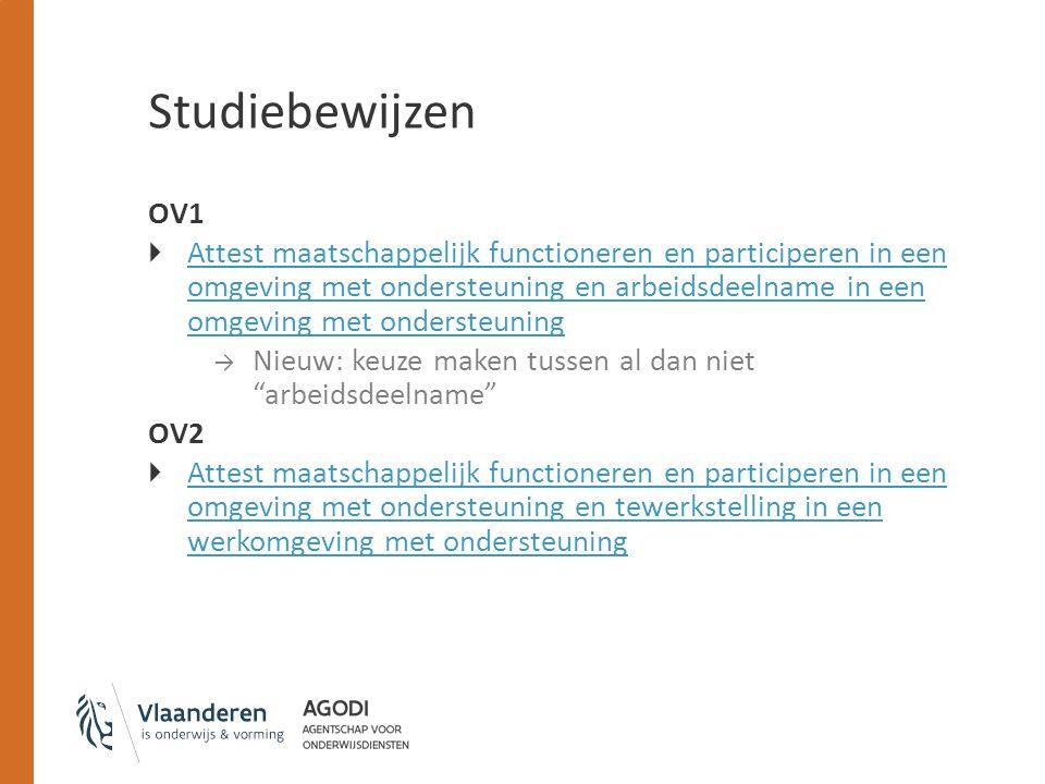 Studiebewijzen OV1.