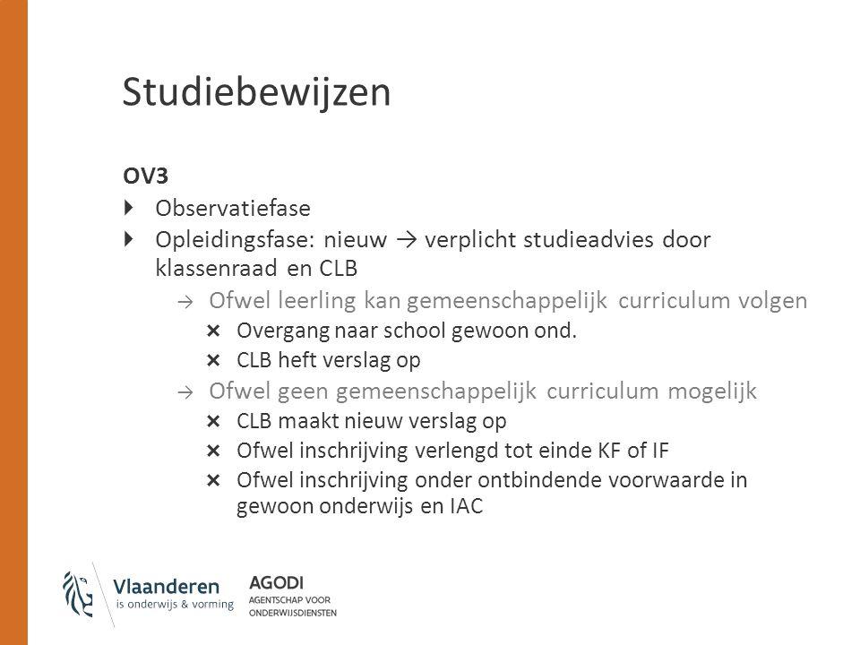 Studiebewijzen OV3 Observatiefase