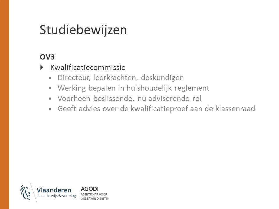 Studiebewijzen OV3 Kwalificatiecommissie