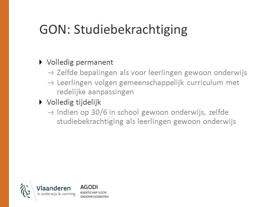 GON: Studiebekrachtiging