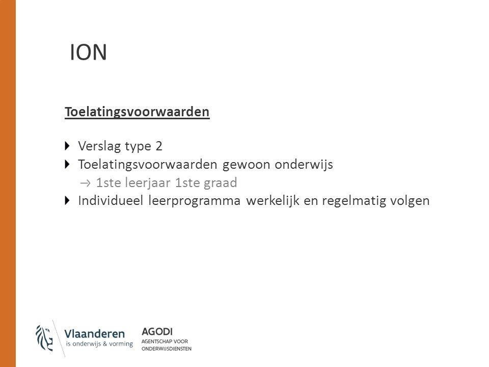 ION Toelatingsvoorwaarden Verslag type 2