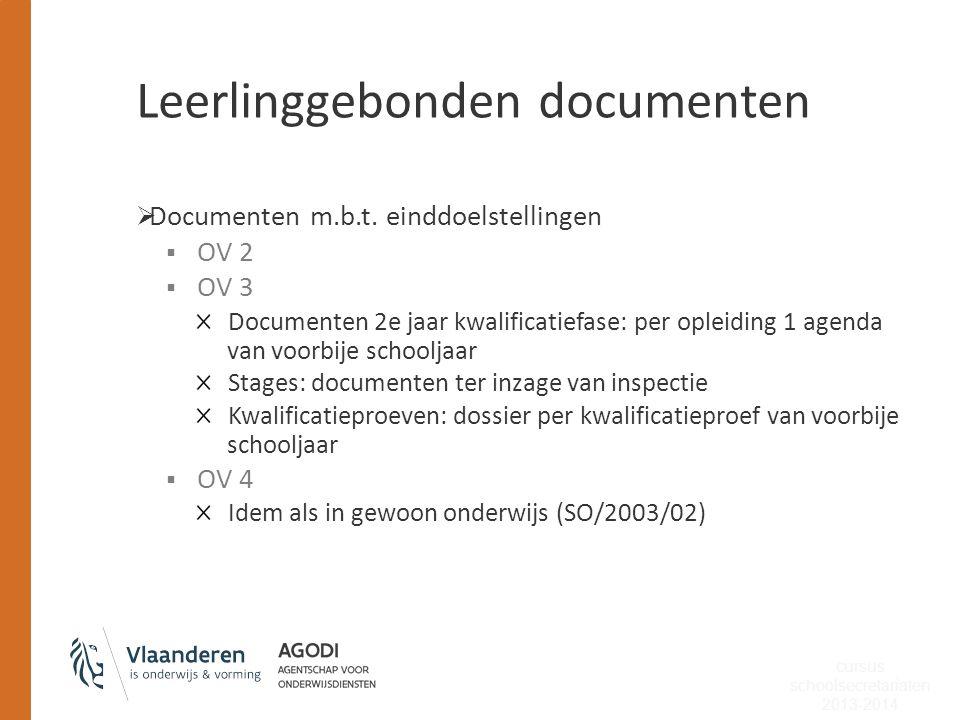Leerlinggebonden documenten
