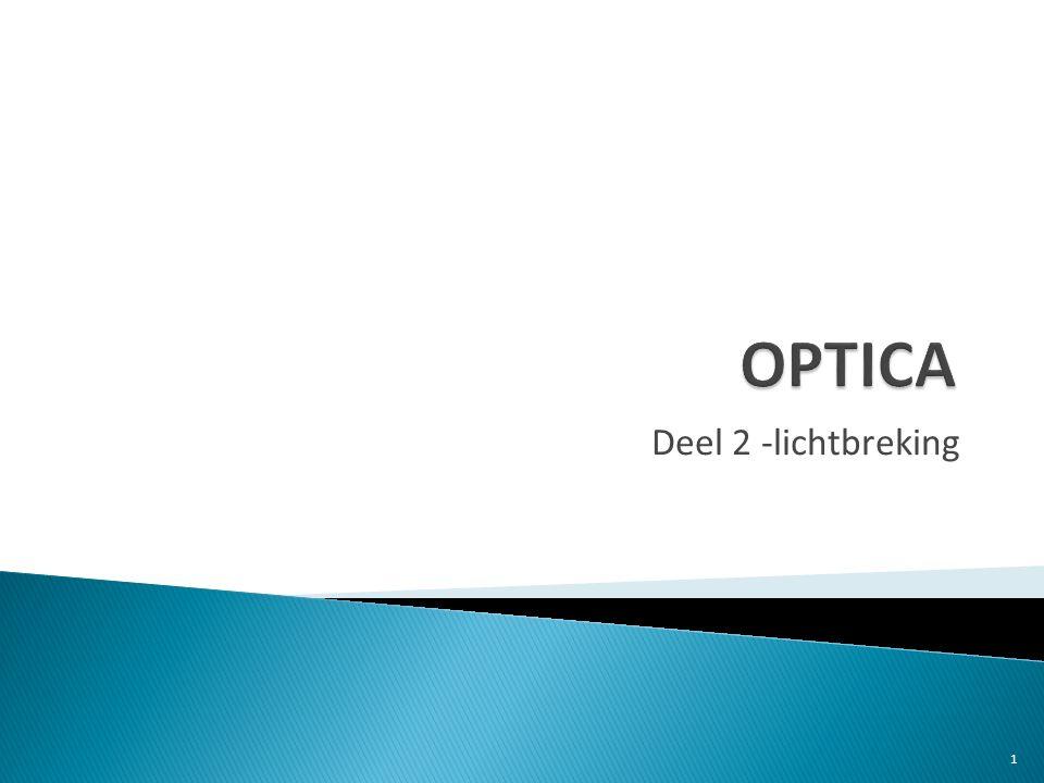 OPTICA Deel 2 -lichtbreking