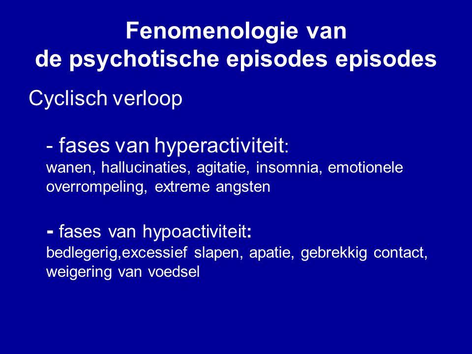 Fenomenologie van de psychotische episodes episodes
