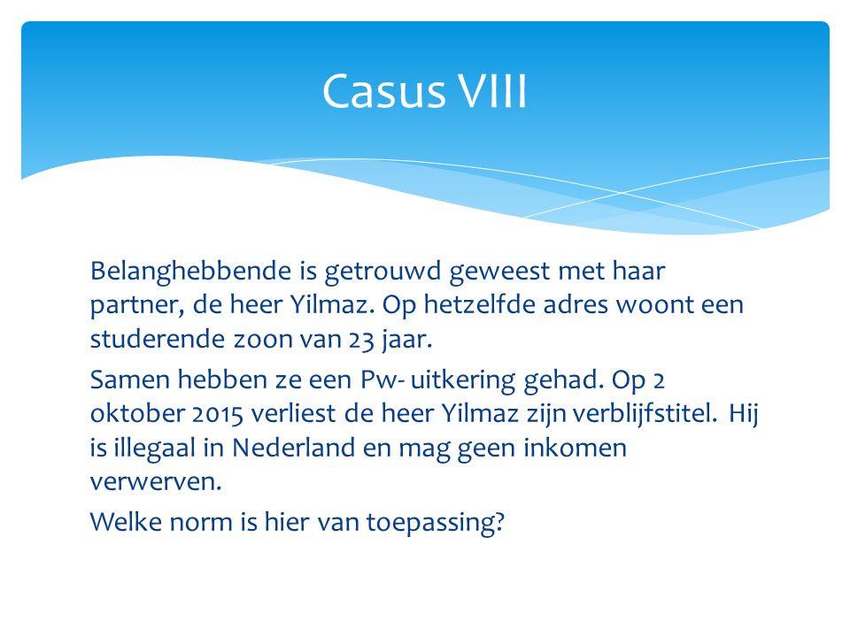 Casus VIII